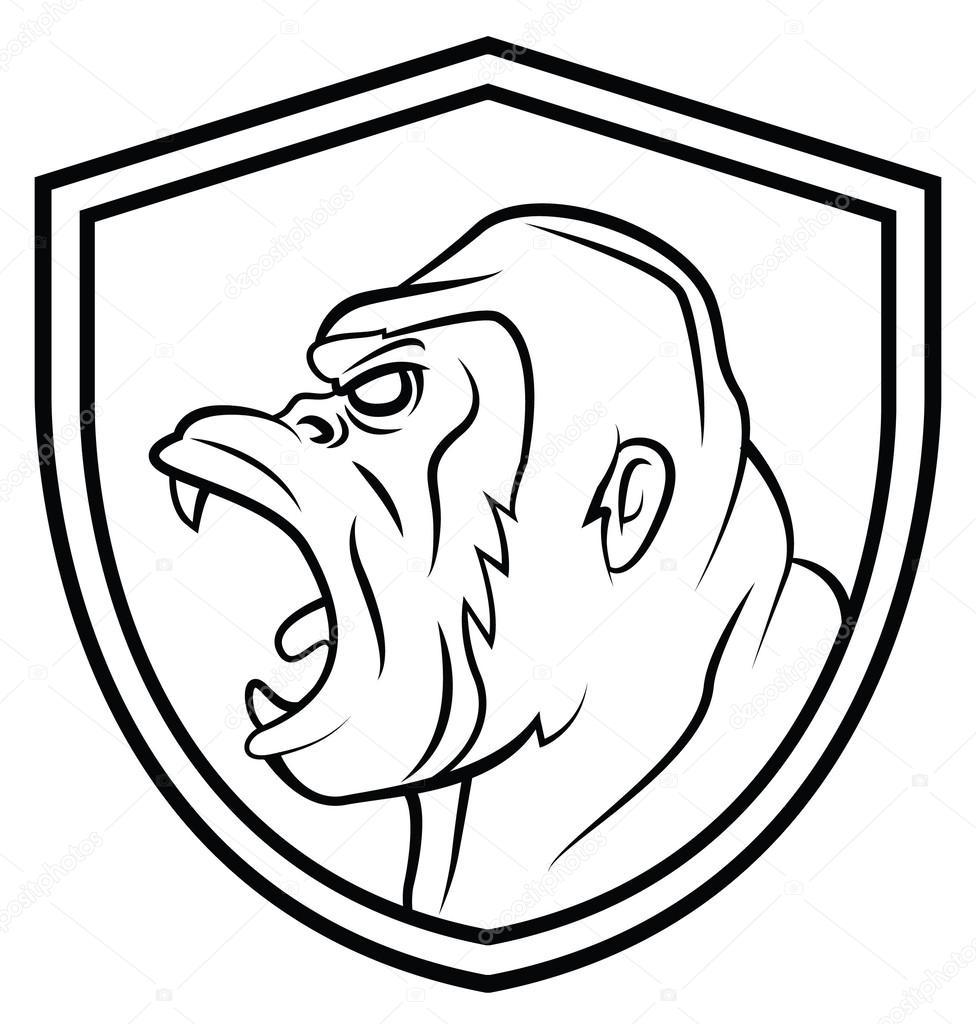 Tatuaje de mascota gorila — Archivo Imágenes Vectoriales ...