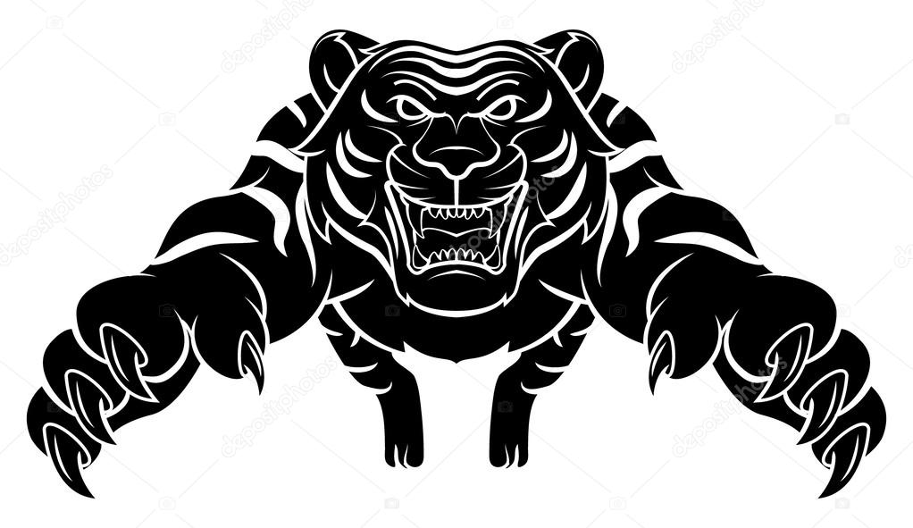 tiger vector illustration stock vector funwayillustration 59131961 rh depositphotos com tiger vector file tiger vector file