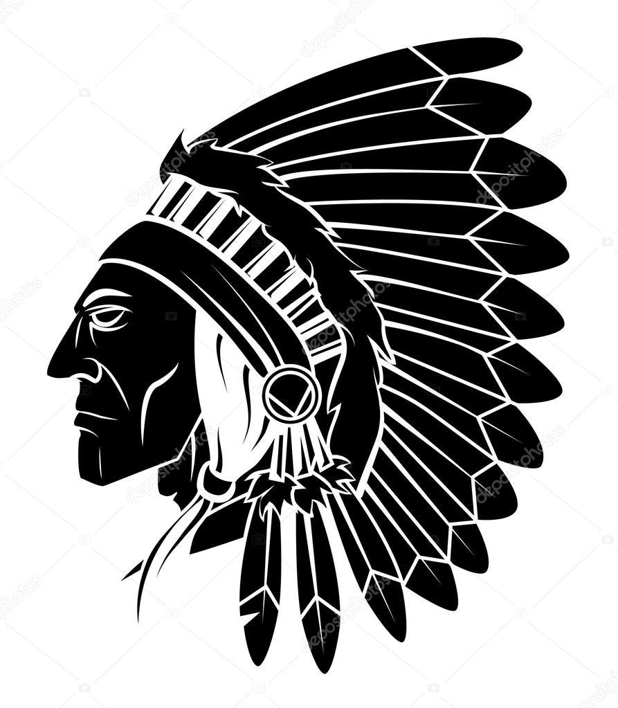 Dibujos: apache | Jefe Apache Vector ilustración — Vector