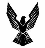Fotografia Nero Silhoutte del simbolo dellAquila