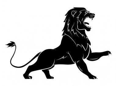 Black Silhouette Of Lion