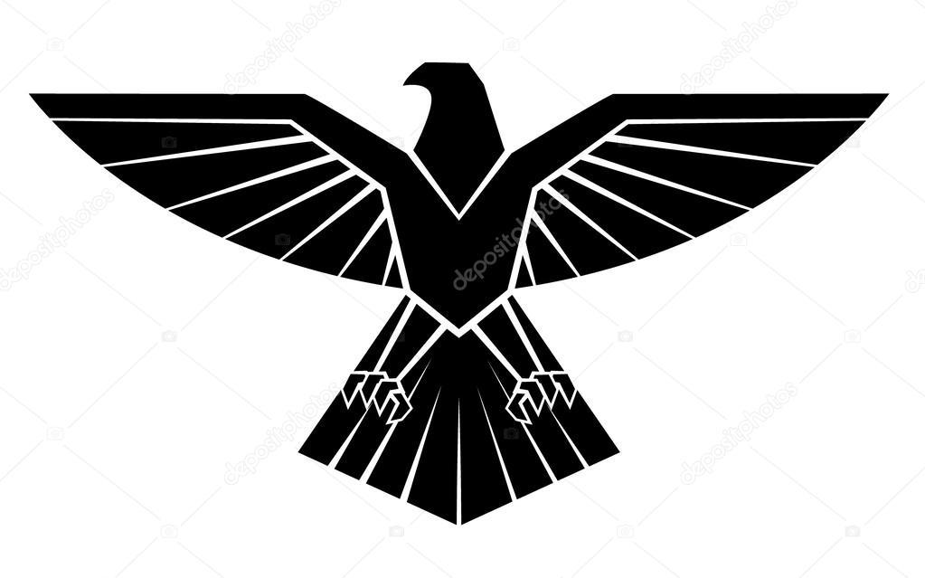 Black Silhoutte Of Eagle Symbol Stock Vector Funwayillustration
