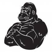 Gorila silnou maskot Tattoo