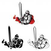 Symbol tetování válečníků rytíři