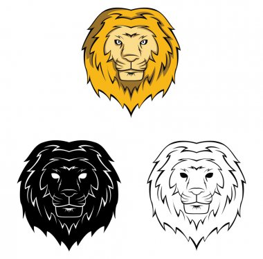 Coloring book lion cartoon character