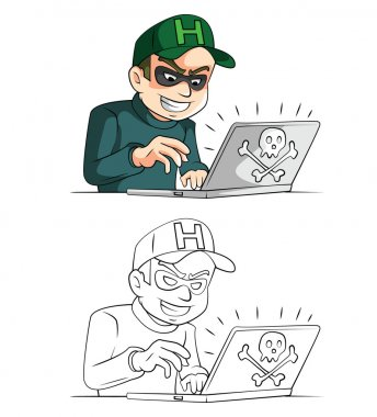 Hacker cartoon character