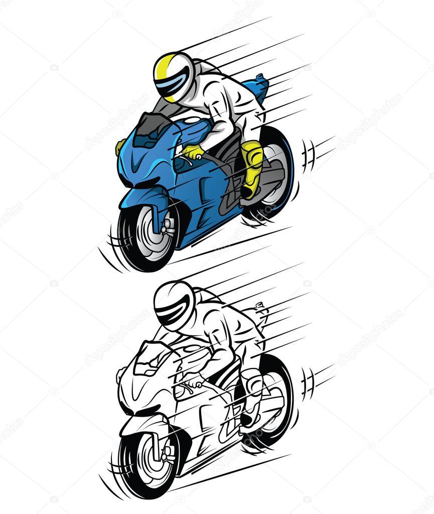 Imágenes Animadas De Carreras De Motos Personaje De Dibujos