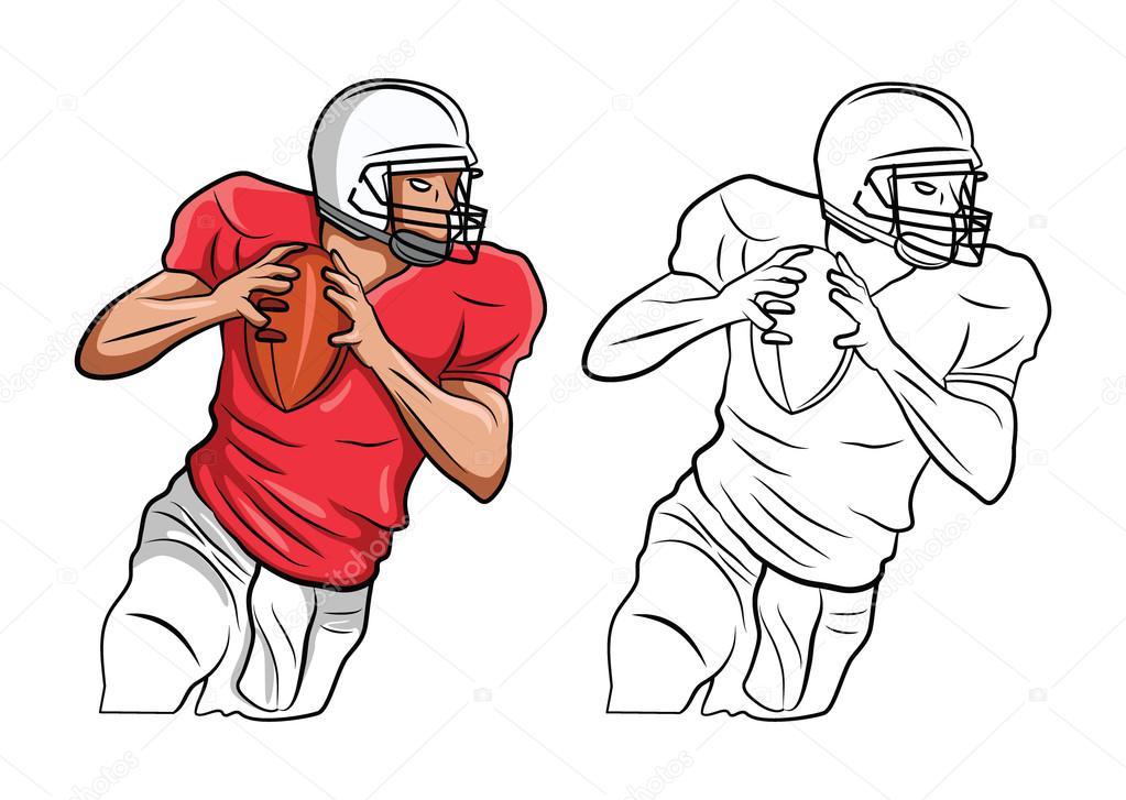 Personaje de dibujos animados para colorear libro de fútbol ...
