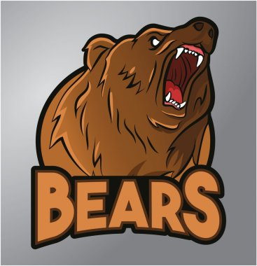 Bears mascot clip art vector
