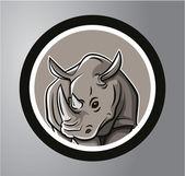 Fotografie Rhinoceros Circle sticker