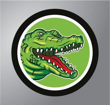 Crocodile Circle sticker