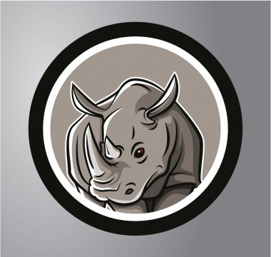 Rhinoceros Circle sticker
