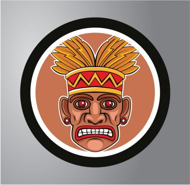 Tiki Circle sticker
