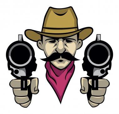 Cowboy shoot with the gun