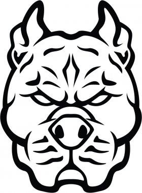 Strong dog symbol illustration