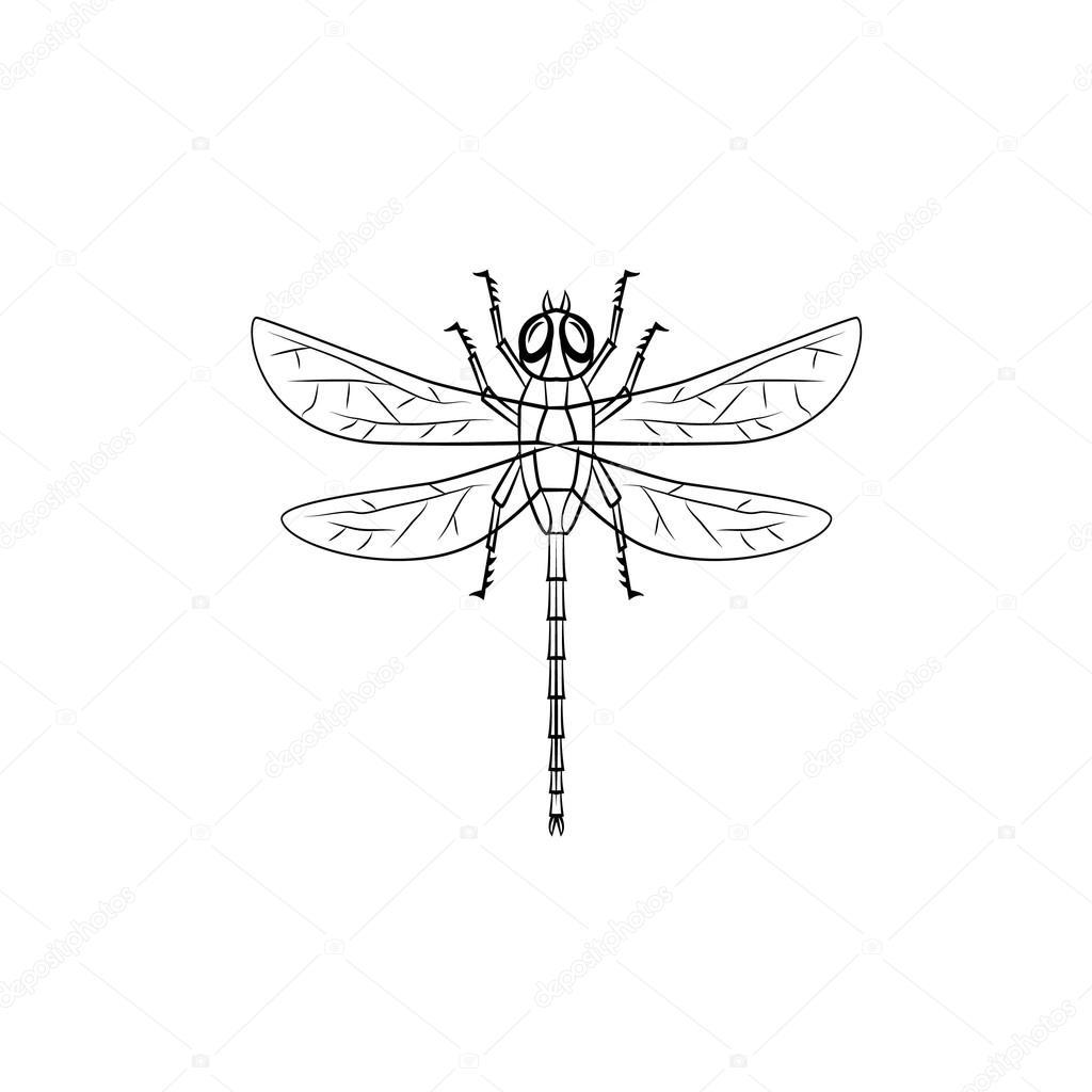 Dragonfly symbol illustration stock vector funwayillustration dragonfly symbol illustration stock vector biocorpaavc