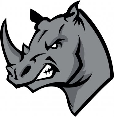 Rhino head illustration design