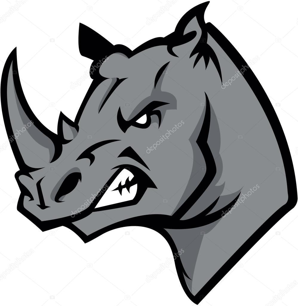 Rhino head illustration design stock vector for Immagini vector