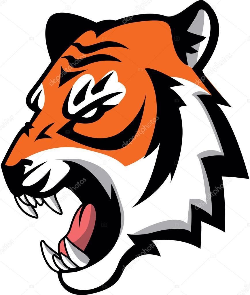 tiger symbol illustration design � stock vector