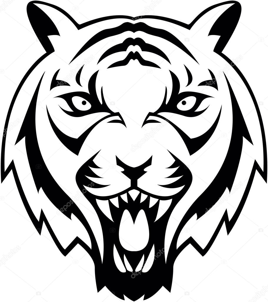 Tiger Symbol Illustration Design Stock Vector Funwayillustration
