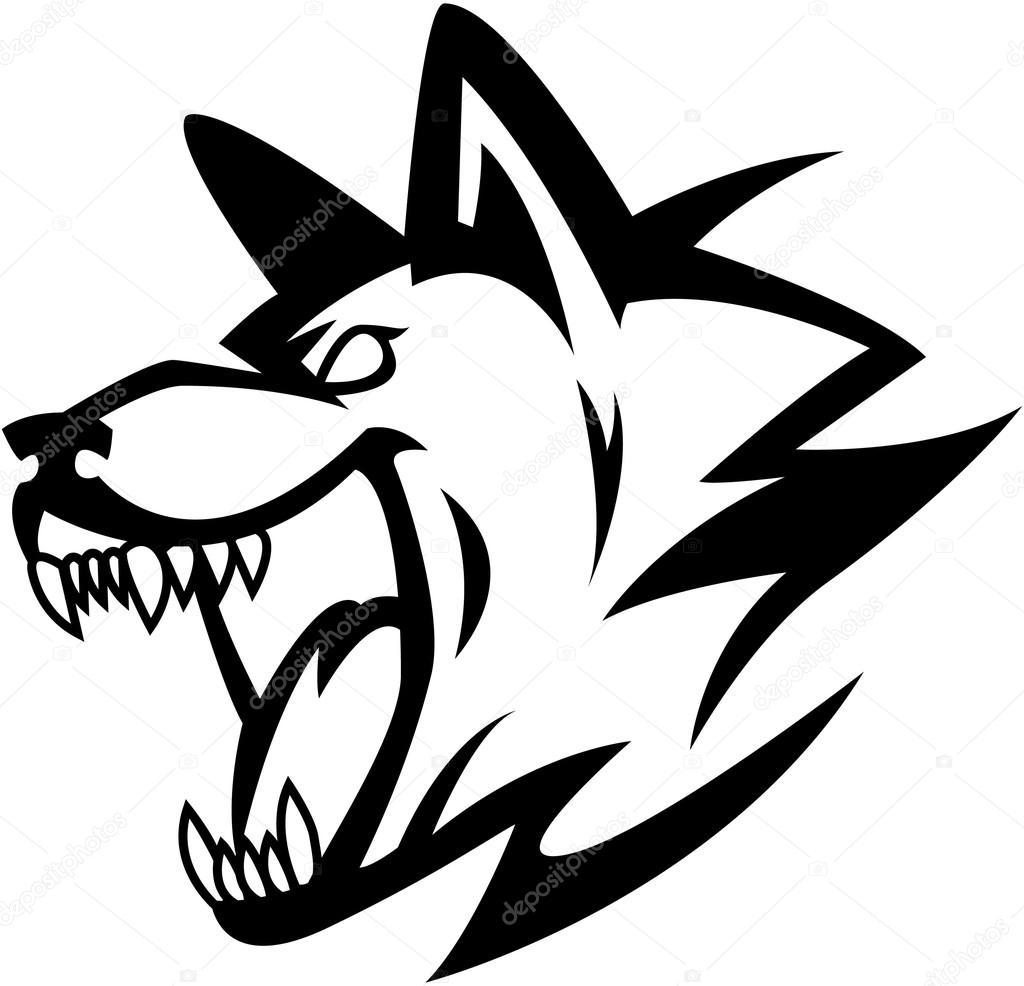 オオカミのシンボル イラスト デザイン ストックベクター