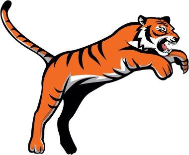 Jumping Tiger Symbol Illustration design