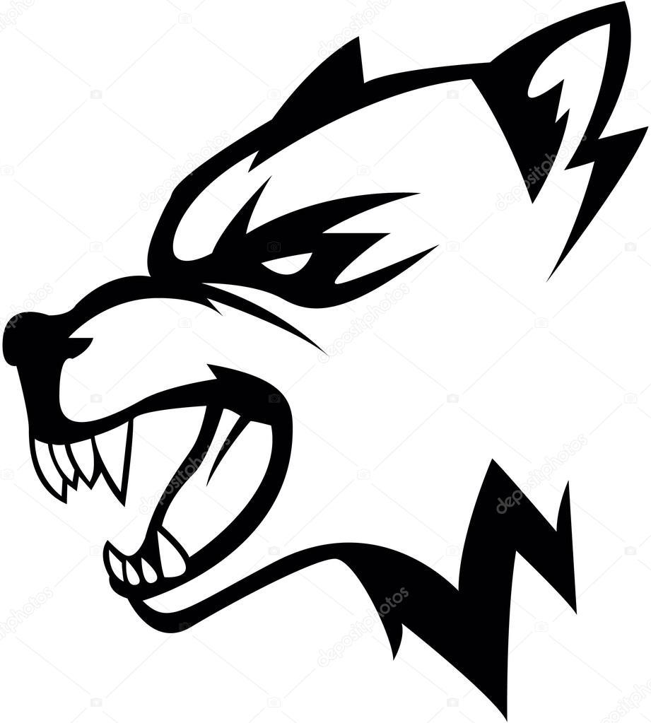 狼頭のイラスト デザイン ストックベクター Funwayillustration