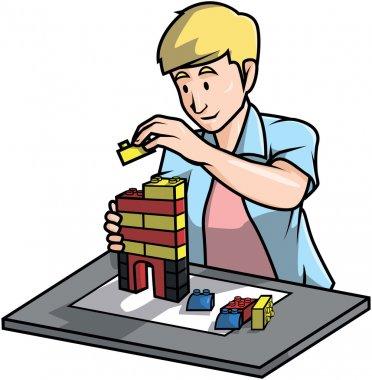 Toy builder design llustration