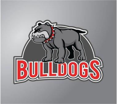 Bulldog Illustration design badge
