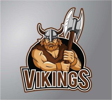 Vikings symbol illustration design