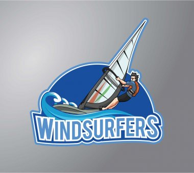 Wind surfer vector illustration