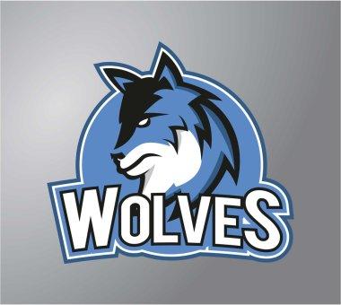 Wolves symbol illustration design