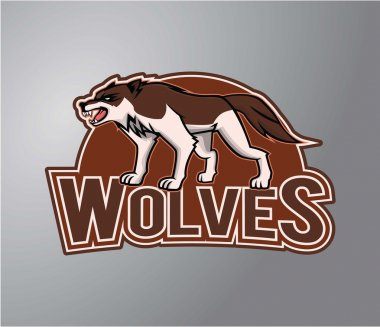 Wolves symbol illustration design
