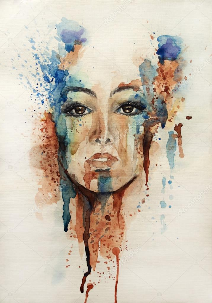 Ink Paintings Faces