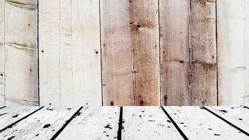 Holzfußboden Weiß ~ Holzboden weiß und braun aus holz vorne u stockfoto jansucko