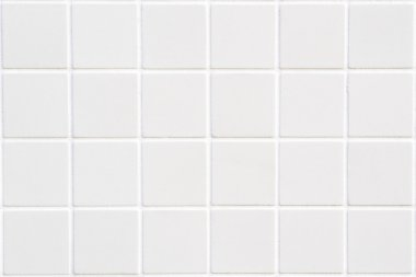 White ceramic tile with 24 squares in rectangular form stock vector