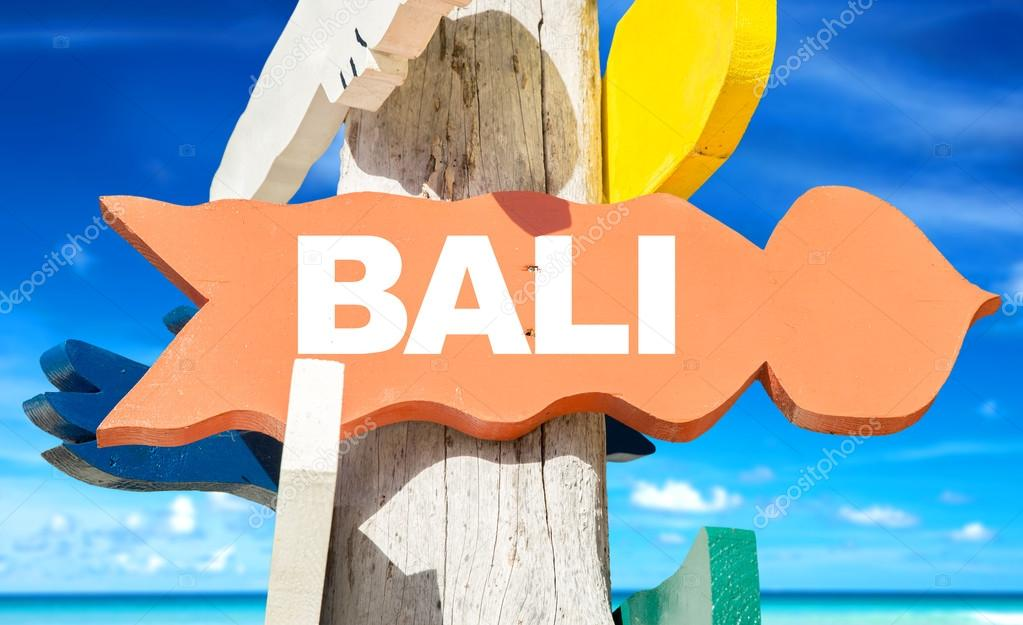 Bali welcome sign   First day of Singapore Bali package