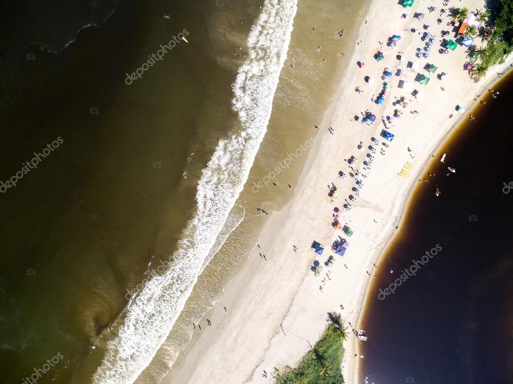 Crowd of People on Beach