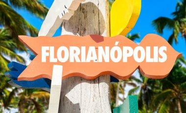florianopolis wooden signpost