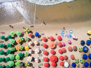 Umbrellas on Boa Viagem Beach