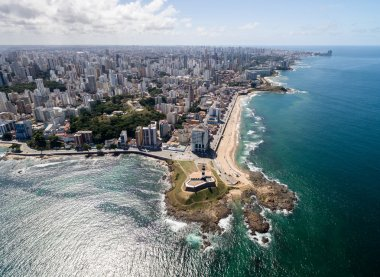 Barra Lighthouse and Salvador cityscape