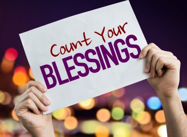 Count Your Blessings placard