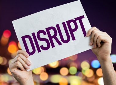 Disrupt placard with night lights