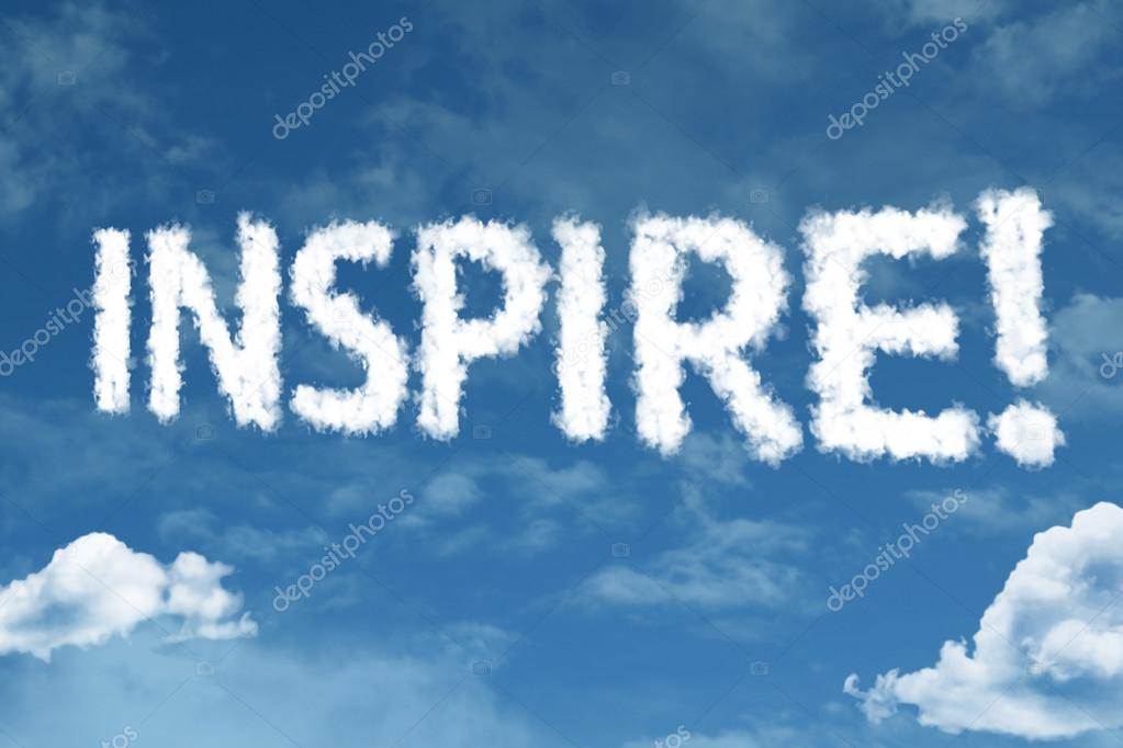 inspire cloud word with sky