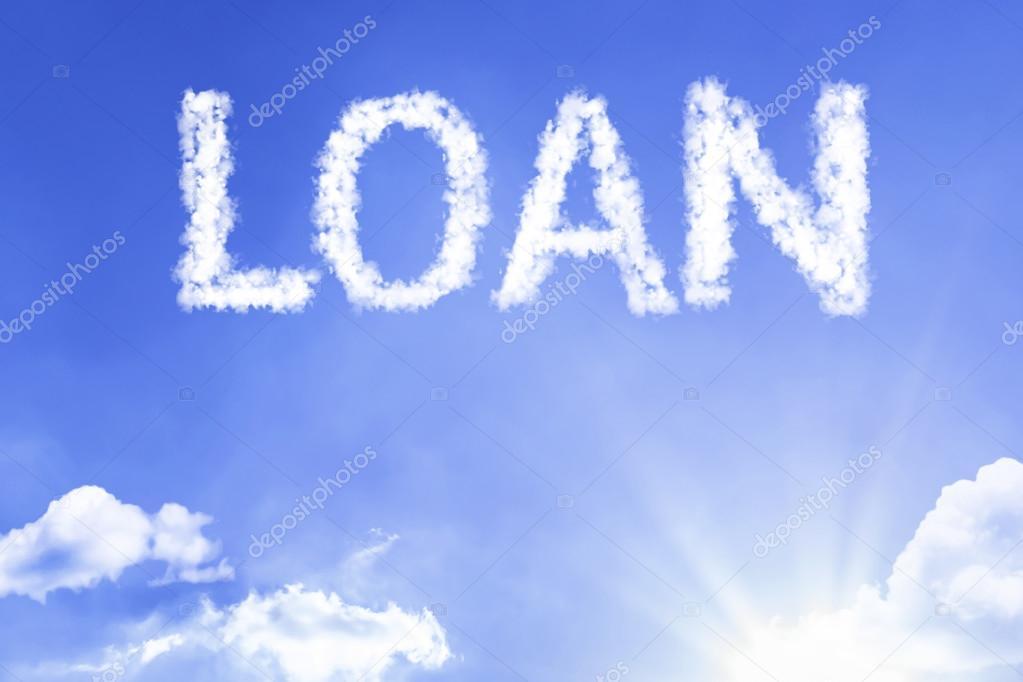 loan cloud word with sky