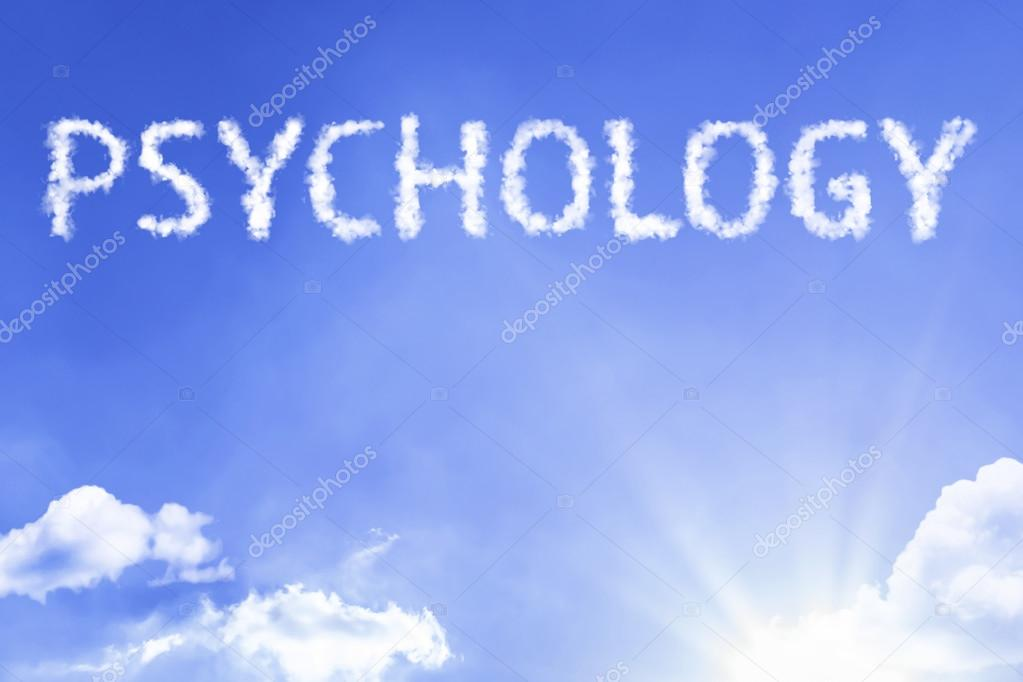 psychology cloud word with sky