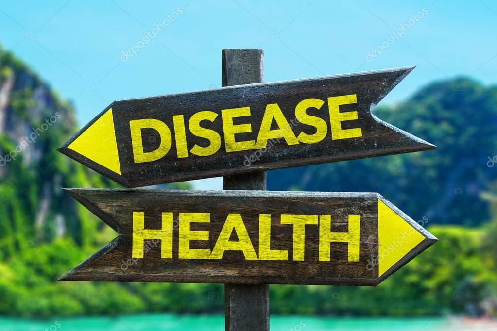 Disease - Health crossroad