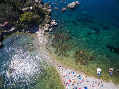 beach and island Isola Bella at Taormina