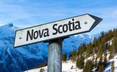 Nova Scotia direction sign