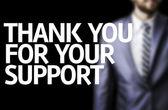 Fotografie Vielen Dank für Ihre Unterstützung, die auf eine Tafel geschrieben